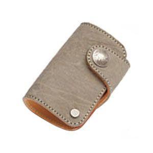 カードケース メンズ 革 名入れ ケイシーズ(KCs) エキゾチック グレー コロラド カードケース エレファント KPC516A|nomado1230