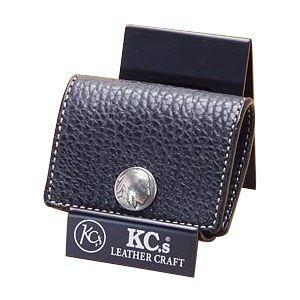 コインケース メンズ 革 名入れ ケイシーズ(KCs) エキゾチック ブラック コインケース スリー バッファロー KPC563C nomado1230