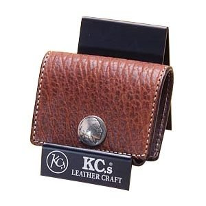 コインケース メンズ 革 名入れ ケイシーズ(KCs) エキゾチック ブラウン コインケース スリー バッファロー KPC563A|nomado1230