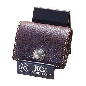 コインケース メンズ 革 名入れ ケイシーズ(KCs) エキゾチック チョコレート コインケース スリー バッファロー KPC563B nomado1230