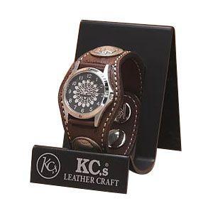 腕時計 ケイシーズ(KCs) エキゾチック スリーコンチョ カンゴタバック ウォッチブレス スムース オーストリッチ KPR502K|nomado1230