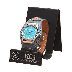 腕時計 ケイシーズ(KCs) エキゾチック スリーコンチョ デニム ウォッチブレス スムース オーストリッチ KPR002DM|nomado1230