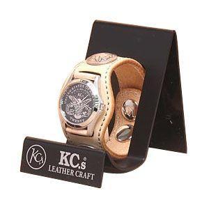 腕時計 革 ケイシーズ(KCs) カービング スリーコンチョ サドル ウォッチブレス フリー カット KPR503A|nomado1230
