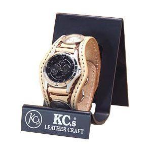 腕時計 革 ケイシーズ(KCs) クラフト スリー コンチョ サドル ウォッチブレス バスケット KPR505A|nomado1230