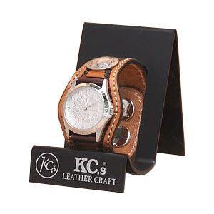 腕時計 革 ケイシーズ(KCs) クラフト スリー コンチョ アーモンド ウォッチブレス バスケット KPR505B|nomado1230