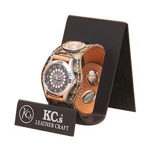 腕時計 革 ケイシーズ(KCs) エキゾチック スリーコンチョ ベージュ ウォッチブレス ラッセル KPR508A|nomado1230