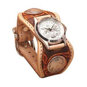 腕時計 革 ケイシーズ(KCs) クラフト エスパニューラ タン3トーン ウォッチブレス デラックス KPR509A|nomado1230