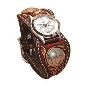腕時計 革 ケイシーズ(KCs) クラフト エスパニューラ ブラウン3トーン ウォッチブレス デラックス KPR509B|nomado1230