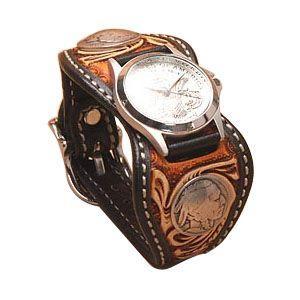 腕時計 革 ケイシーズ(KCs) クラフト エスパニューラ ブラック3トーン ウォッチブレス デラックス KPR509C|nomado1230