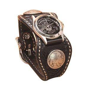 腕時計 革 ケイシーズ(KCs) クラフト エスパニューラ ブラック ウォッチブレス KPR510D|nomado1230