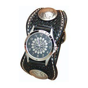腕時計 革 ケイシーズ(KCs) スタンプ エスパニューラ ブラック ウォッチブレス バスケット KPR511D|nomado1230