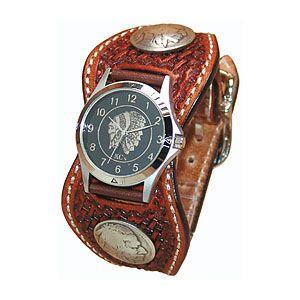 腕時計 革 ケイシーズ(KCs) スタンプ エスパニューラ アーモンド ウォッチブレス バスケット KPR511B|nomado1230