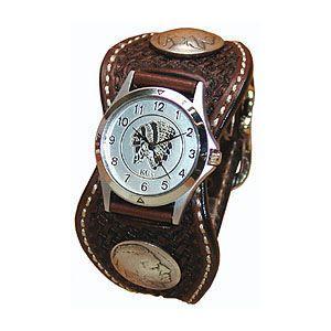 腕時計 革 ケイシーズ(KCs) スタンプ エスパニューラ モカ ウォッチブレス バスケット KPR511C|nomado1230