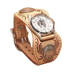 腕時計 革 ケイシーズ(KCs) カービング エスパニューラ サドル ウォッチブレス フリー カット KPR512A|nomado1230