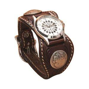 腕時計 革 ケイシーズ(KCs) カービング エスパニューラ モカ ウォッチブレス フリー カット KPR512C|nomado1230