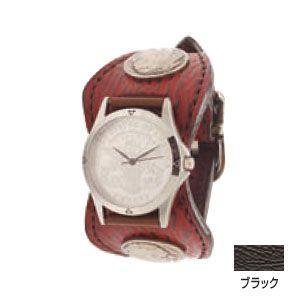 腕時計 革 ケイシーズ(KCs) エスパニョーラ ブラック ウォッチブレス シャーク KPR513B|nomado1230