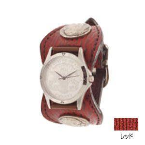 腕時計 革 ケイシーズ(KCs) エスパニョーラ レッド ウォッチブレス シャーク KPR013RD|nomado1230