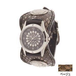 腕時計 ケイシーズ(KCs) エスパニョーラ ベージュ ウォッチブレス ラッセルパイソン KPR515A|nomado1230