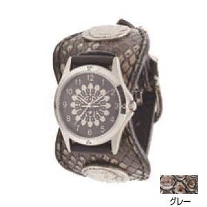 腕時計 ケイシーズ(KCs) エスパニョーラ グレー ウォッチブレス ラッセルパイソン KPR515B|nomado1230