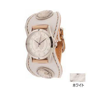腕時計 革 ケイシーズ(KCs) エスパニョーラ ホワイト ウォッチブレス スムースオーストリッチ KPR516C|nomado1230
