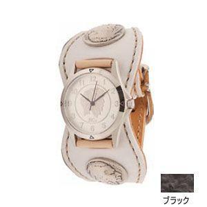 腕時計 革 ケイシーズ(KCs) エスパニョーラ ブラック ウォッチブレス スムースオーストリッチ KPR516A|nomado1230