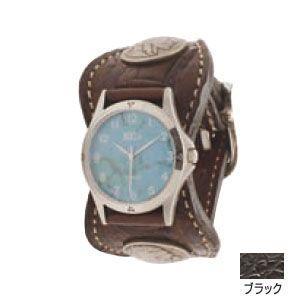 腕時計 革 ケイシーズ(KCs) エスパニョーラ ブラック ウォッチブレス タロコダイル KPR517C|nomado1230