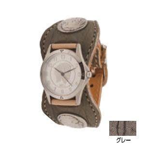 腕時計 革 ケイシーズ(KCs) エスパニョーラ グレー ウォッチブレス エレファント KPR518A|nomado1230