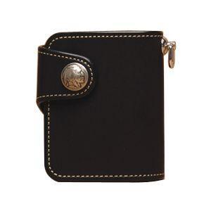 メンズ財布 革 名入れ ケイシーズ(KCs) プレーン シェルビー ブラック ビルフォード KSB501C|nomado1230