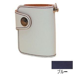 メンズ財布 革 名入れ ケイシーズ(KCs) エキゾチック シェルビー ブルー コードバン ビルフォード KSB510G|nomado1230