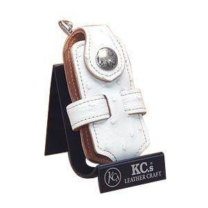 携帯ケース 革 名入れ ケイシーズ(KCs) エキゾチック オーストリッチ ホワイト クロス 携帯電話ケース ツー KSE010WH nomado1230