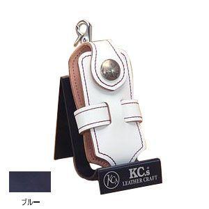 ケイシーズ(KCs) エキゾチック コードバン ブルー クロス 携帯電話ケース ツー KSE012BL|nomado1230