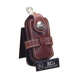 ケイシーズ(KCs) エキゾチック コードバン ブラウン クロス 携帯電話ケース ツー KSE012BR|nomado1230