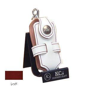 ケイシーズ(KCs) エキゾチック コードバン レッド クロス 携帯電話ケース ツー KSE012RD|nomado1230