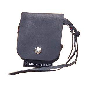 ショルダーバッグ メンズ 革 名入れ ケイシーズ(KCs) メディスン カウハイド ブラック バッグ KSM509C|nomado1230