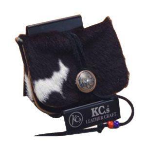 コインケース メンズ 革 名入れ ケイシーズ(KCs) エキゾチック アンボーン ブラック&ホワイト ミニ ウォレット KSMW503B|nomado1230