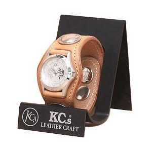 腕時計 革 ケイシーズ(KCs) プレーン スリー コンチョ タン ウォッチブレス KSR501A|nomado1230