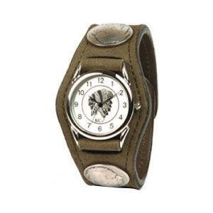 腕時計 革 ケイシーズ(KCs) エキゾチック スリーコンチョ カーキ ウォッチブレス ヌバック KSR002KK nomado1230