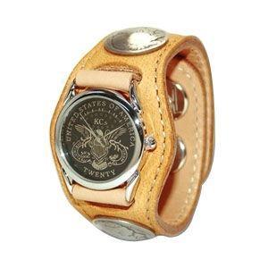 腕時計 革 ケイシーズ(KCs) エキゾチック スリーコンチョ タン ウォッチブレス ディア KSR004TN nomado1230
