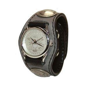 腕時計 革 ケイシーズ(KCs) エキゾチック スリーコンチョ グレー ウォッチブレス ディア KSR004GL nomado1230