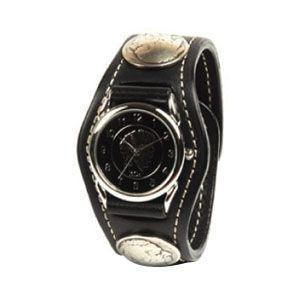腕時計 革 ケイシーズ(KCs) エキゾチック スリーコンチョ ブラック ウォッチブレス コードバン KSR505C|nomado1230