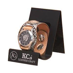 腕時計 革 ケイシーズ(KCs) エキゾチック スリーコンチョ ターコイズ ウォッチブレス パイソン KSR508D|nomado1230
