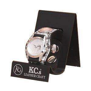 腕時計 革 ケイシーズ(KCs) エキゾチック スリーコンチョ ナチュラル ウォッチブレス パイソン KSR508A|nomado1230