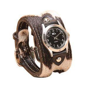 腕時計 革 ケイシーズ(KCs) エキゾチック ダブルバックル ブラック・ホワイト ウォッチ ブレス アンボーン KSR016BKWH nomado1230