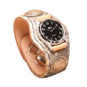 腕時計 革 ケイシーズ(KCs) エキゾチック スリーコンチョ ナチュラル ウォッチブレス ラトルスネーク KSR022 nomado1230