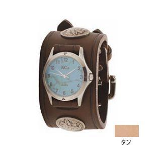 腕時計 革 ケイシーズ(KCs) ダブルバックル コンチョ タン ウォッチブレス KSR527A nomado1230