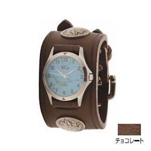 腕時計 革 ケイシーズ(KCs) ダブルバックル コンチョ チョコレート ウォッチブレス KSR527C nomado1230