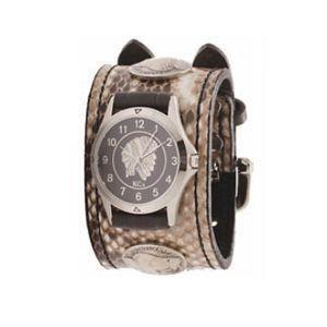 腕時計 ケイシーズ(KCs) ダブルバックル コンチョ ナチュラル ウォッチブレス パイソン KSR528A nomado1230