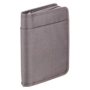 クリアポケット A5 キングジム スキットマン A5 通帳&カード収納ケース 2360 ダークグレー 2360DGY|nomado1230