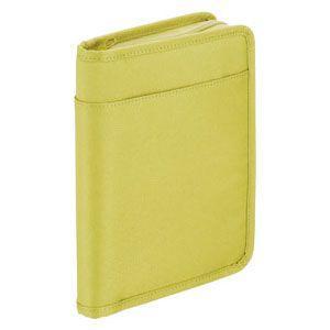 クリアポケット A5 キングジム スキットマン A5 通帳&カード収納ケース 2360 黄緑 2360YG|nomado1230