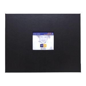 アルバム コロ(KOLO) ニューポート 8.5x11インチ 再生皮革 アルバム 黒台紙 ブラック 2セット 100-8201 nomado1230